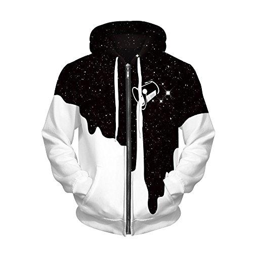 Manche Sweatshirt Unisexe Grosse Longue Vêtements Imprimer Sweat De Noir Sport Pour Hommes Couples Pull Homme Hoodies Capuche Avec À 3d Poche qwp0YH