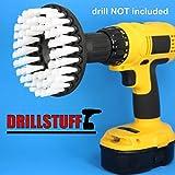 "Softer Bristle Scrub Brush 5"" Round with Power Drill Attachment"