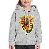 GLSEY Raises Sunflower Pattern Youth Soft Casual Long-Sleeved Hoodies Sweatshirts