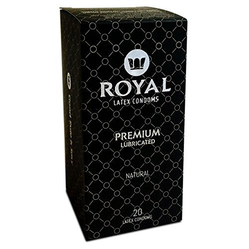 Royal Ultra Thin Premium Lubricated Condoms - All Natural, High Quality Non-Toxic Latex and Odor Free for Long Lasting Pleasure and Performance, Bulk 20 Count