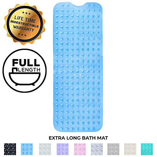 Enkosi Bath Mat – Large Non Slip Bathtub & Shower Mat – Extra Long 40 x 16 Inch Bathroom Mats for Tub – Machine Washable & Mildew Resistant Nonslip Bathmats – Anti Slip Bathroom Accessories