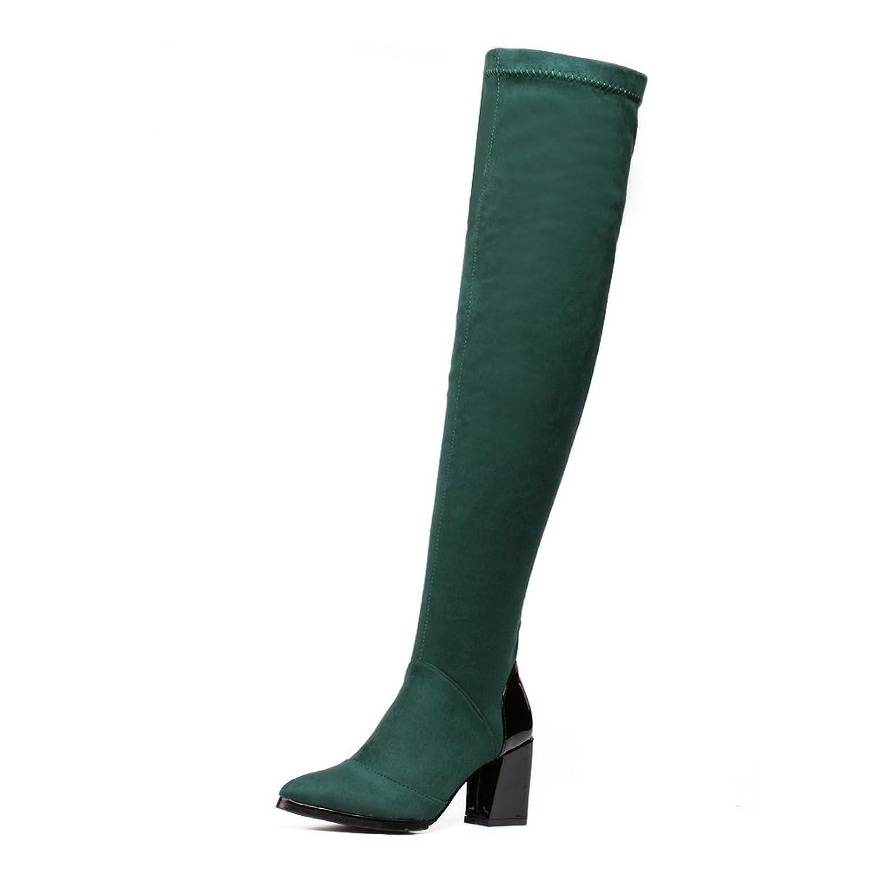 BalaMasa Girls Chunky Heels Winkle Pinker Zipper Kitten-Heels Imitated Suede Boots