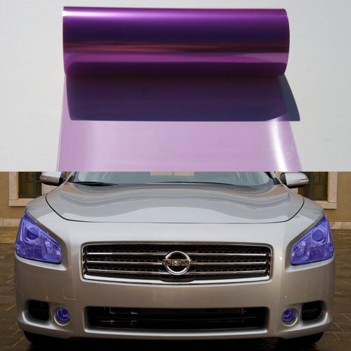 12 by 48 Inches Self Adhesive Headlight, Tail Lights, Fog Lights Tint Vinyl Film (12 X 48, Purple) (Purple Film For Fog Lights compare prices)