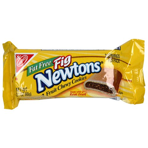 Nabisco Fig Newtons - Newtons, (Fat-Free Fig, Twelve 2.1-Ounce Single Serve Bags, 12-Pack)
