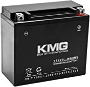 KMG Battery Compatible with Honda 1800 GL1800 Gold Wing 2001-2008 YTX20L-BS Sealed Maintenance Free Battery Hi