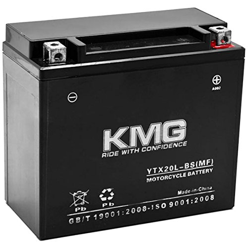 KMG Yamaha 1600 XV1600 Road Star 1999-2003 YTX20L-BS Sealed Maintenace Free Battery High Performance 12V SMF OEM Replacement Maintenance Free Powersport Motorcycle ATV Scooter Snowmobile KMG
