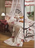 Tuscan Rose Shabby Rag Queen Quilt Set 6 Piece Set
