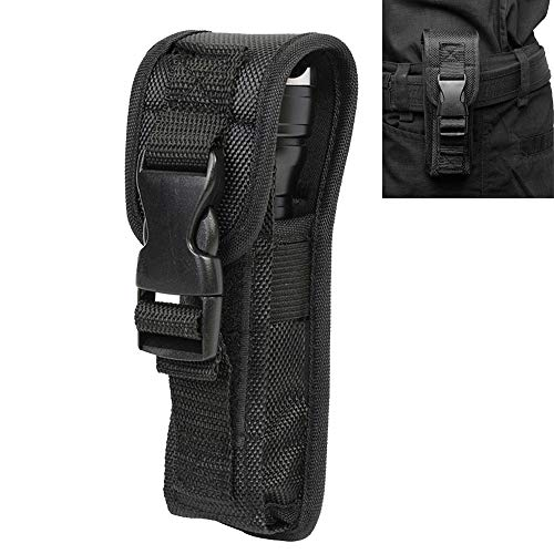 Flashlight Holster Case Led Torch Flashlight Pouch for Duty Belt Holder with Molle System and Buckle (1) ()