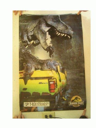 Jurassic Park Poster T-Rex Strikes T Rex Dinosaur