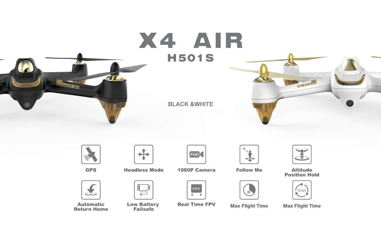 HUBSAN H501S X4 FPV - Drone con cámara, Blanco: Amazon.es: Electrónica