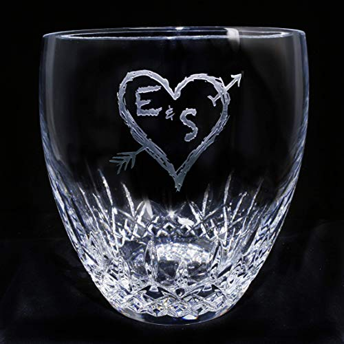 Waterford Crystal Ice Bucket with Tongs, Engraved Wedding Gift Idea