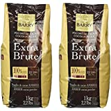 Cacao Barry Cocoa Powder 100% Cocoa Extra Brute, 2.2 lb (Pack of 2)