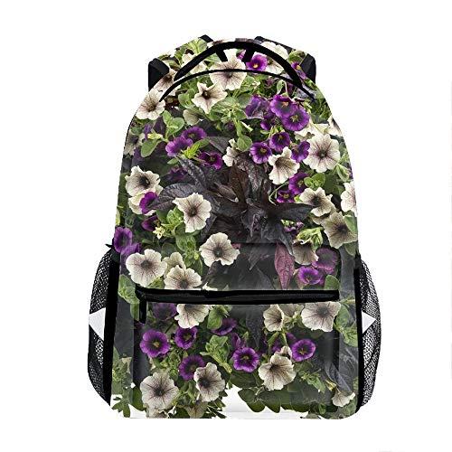 School Backpack Durable Children School Book Bags Petunia Flowers Colorful Height
