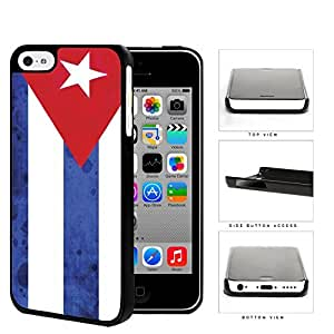 Cuba Flag Red Triangle and White Blue Stripes Grunge Hard Snap on Phone Case Cover iPhone 5c