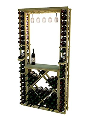 Wine Cellar Innovations RP-CM-GRDIAMDSKIT-A3 Traditional Series Tasting Center Bundle Glass, Table Top, Individuals and Open Diamond Bin Wine Rack