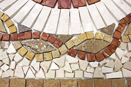 Rosoni rosone mosaico in marmo su rete per interni esterni 66x66