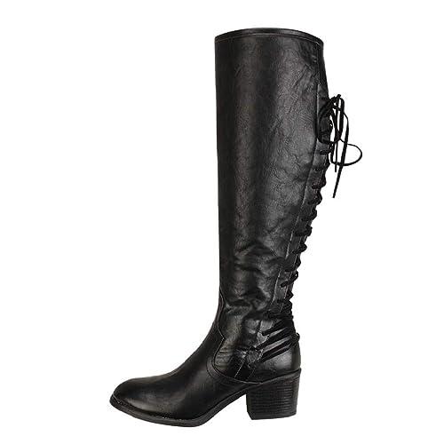 QUICKLYLY Botas de Mujer,Botines para Adulto,Zapatos Otoño/Invierno 2018 ,Moda
