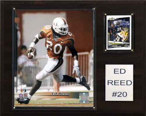 NCAA Football Ed Reed Miami Hurricanes Player Plaque (Miami Ncaa Player Hurricanes)