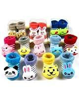 Lowestbest Baby Soft Sole Prewalkers Skid-Resistant Baby Girl Toddler Socks 3-12 months