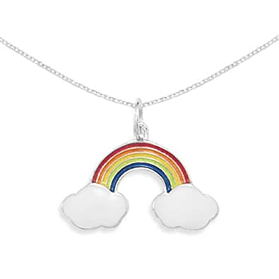 for necklace stainless bijoux woman jewelry rainbow bohemian item rhinestone lesbian steel gay pendant infery statement pride
