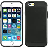 Premium Iphone 6 6s Travel Case Holder Slim Black Dual Layer Protective Cover and Cleaning Cloth and Protector
