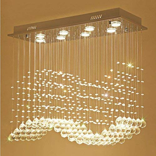 Oudan The Supporters of The Chandelier Lights from Crystal, Simple Modern Living Room Dining Room Bar Restaurant (Size: 4 Rectangle Chandelier Lights/60 25 60 cm). (Color : 6 Lights/802570cm)