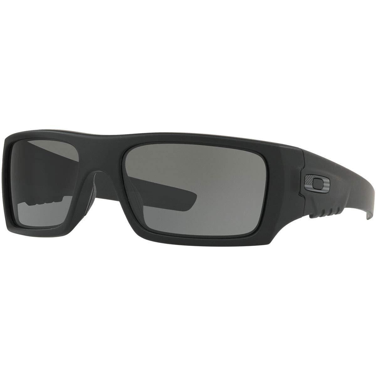 Oakley Men's OO9253 Det Cord Rectangular Sunglasses, Matte Black/Grey, 61 mm by Oakley