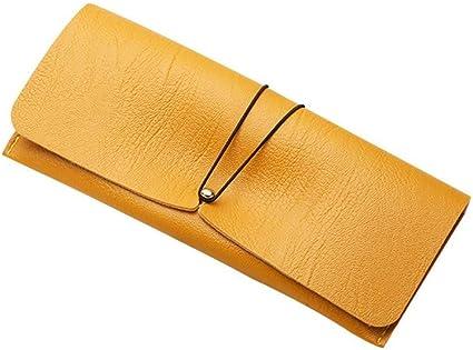 QSFGHJKUV Estuche de lápices Estuche para lentes 5 Piezas Moda Personalidad Gafas de sol Bolsa de almacenamiento Estuche de anteojos de cuero Pvc multicolor Estuche de lentes Estuche blando, Amarillo: Amazon.es: Oficina