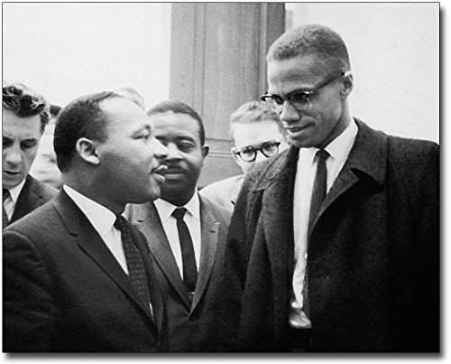 Martin Luther King Jr. & Malcolm X 1964 8x10 Silver Halide Photo Print