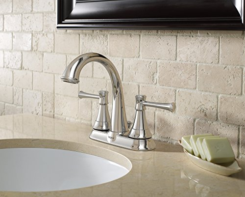 Moen WS84777 Moen Ashville Centerset 2 Handle Bathroom Faucet, 4 ...