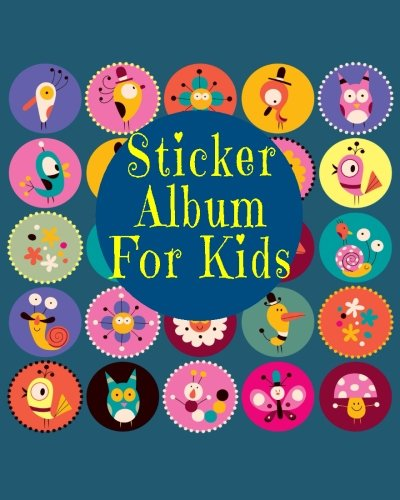 Sticker Album For Kids: Blank Sticker Book, 8 x 10, 64 Pages