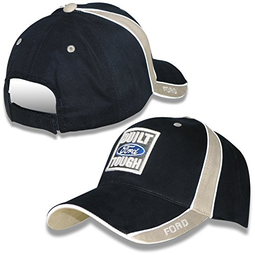 CFS Built Ford Tough Navy Blue and Khaki Hat Built Ford Tough Logo