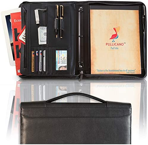 PELLICANO Professional Leather Portfolio Organizer