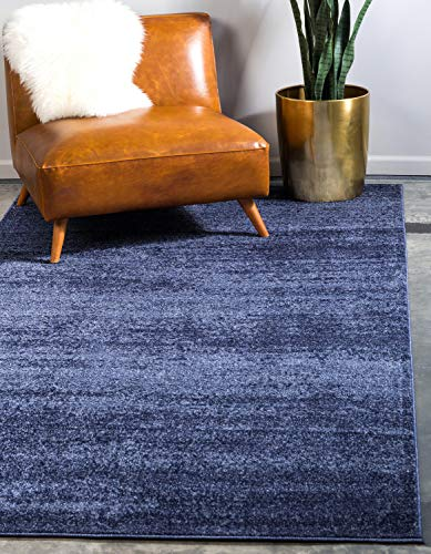 Unique Loom Del Mar Collection Contemporary Transitional Navy Blue Area Rug (3' 3 x 5' 3) (Rugs For Beach House)