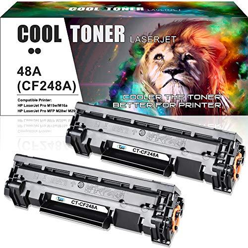 Cool Toner Compatible Toner Cartridge Replacement for HP 48A CF248A M28w M15w Toner Cartridge HP Laserjet Pro MFP M28w M29w M28a M29a HP Laserjet Pro M15w M16a M15a M16w Printer Toner Ink (Black,2PK)