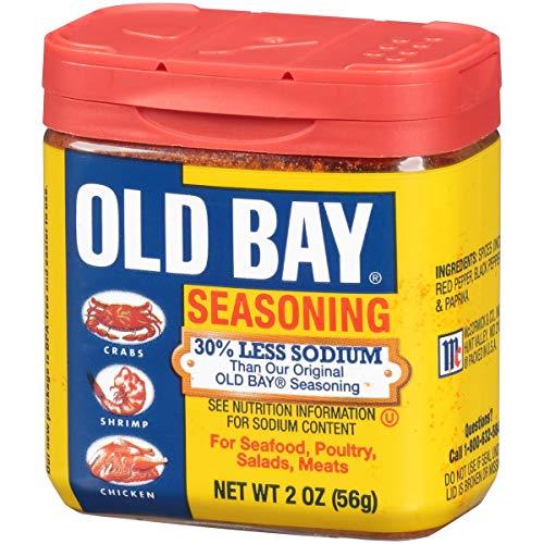 OLD BAY 30% Less Sodium Seasoning, 2 OZ