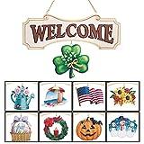 Seasonal Welcome Sign Decoration - 10 Piece Set
