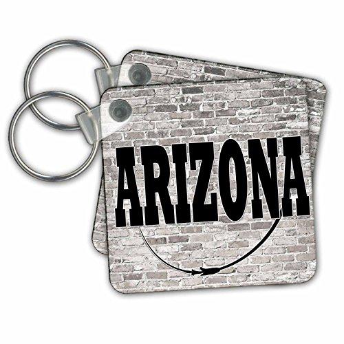 RinaPiro - US States - Arizona. State Capital is Phoenix. - Key Chains - set of 6 Key Chains (kc_268682_3)