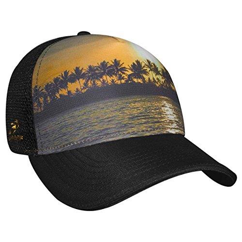 Headsweats Beachy 5 Panel Trucker Hat, Black, One Size