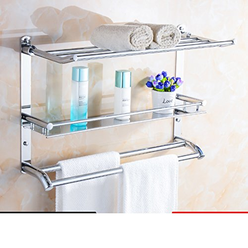 Well Wreapped Multifunctional Bathroom Shelfstainless Steel Towel
