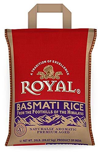 Royal White Basmati Rice, 20 Pound (2 Pack)