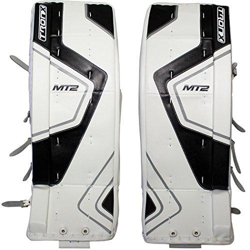 TronX MT2 Senior Hockey Goalie Leg Pads (White/Black - 35+1)