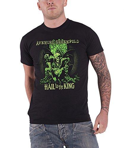 Avenged Sevenfold En Vie Hail To The King Official Mens Black T Shirt