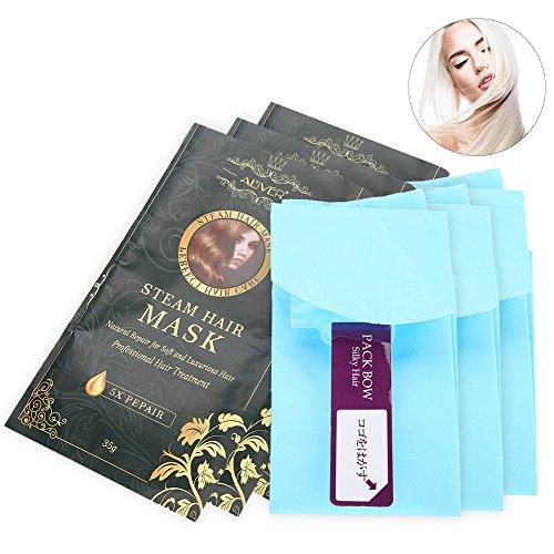 Máscara para el cabello, 3 piezas Calefacción Máscara para el cabello de vapor Máscara para el cabello Suave y lisa...