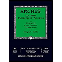 Arches Watercolor Cold Pressed Paper Pad 10x14-12 Sheets