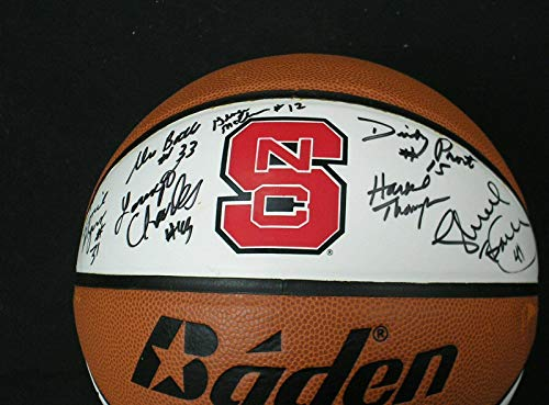 - 1983 NC State National Championship Team Signed Logo BASKETBALL BECKETT BAS COA - Beckett Authentication