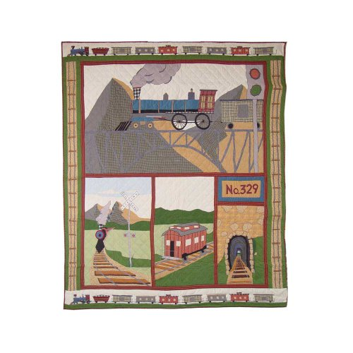 Patch Magic Twin Train Quilt, 65-Inch by 85-Inch