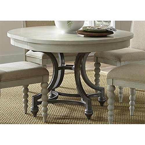 Liberty Furniture Harbor View III Round Dining Table in Dove ()