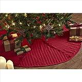 VHC Brands Classic Christmas Reverse Seam 48 in. Tree Skirt