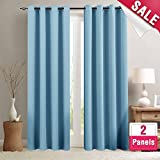 Best Curtain Panel For Kids Bedrooms - Blackout Curtains for Bedroom Triple Weave Room Darkening Review